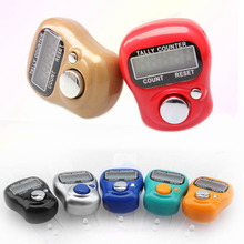 Mini Stitch Marker Portable Electronic Digital Counter Hand Held Ring Tally LCD Screen Counter for Kitchen Tool / Random Color