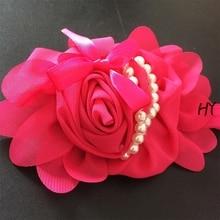 1 Pcslot New Hair Accessories Kids Girls Headband Big Chiffon Flower Hairband Girls Hair Weave Band 6 Color