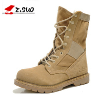 Z.SUO 2019 Men Boots Cow Suede Winter Outdoor Hiking Waterproof Military Army Cowboy High Boots for Men Shoes botas hombre