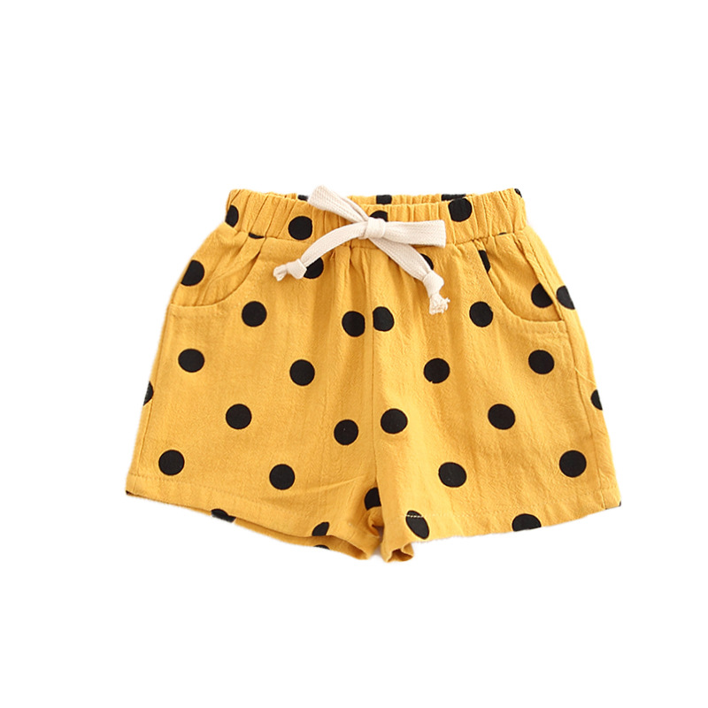 Girls Shorts Summer Dot PP Pants Children Shorts For Girls Clothes Toddler Toddler Panties Kids Beach Short Sports Pants