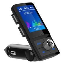 Grande schermo da 1.8 pollici dual usb one touch rispondere alle sette lingue auto trasmettitore FM kit Caricabatteria Da Auto Bluetooth Veloce Veloce 4.2