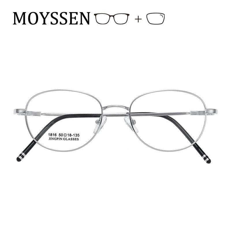 Retro Vintage Flexible Metal Round Oval Myopia Presbyopia Prescription Glasses Women Famale Men Light Alloy Optical Eyeglasses