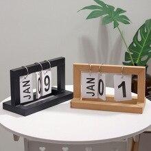 New Nordic Minimalist Creative Wooden Flip Calendar Home Desktop Decoration Decoration Study Desk Calendar 20.5 * 12 * 9cm home daily use manual wooden combination small desk calendar desktop decoration ornament
