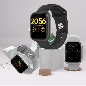 Image 5 - Reloj inteligente GT IP68, dispositivo portátil, resistente al agua, Bluetooth, podómetro, Monitor de ritmo cardíaco, pantalla a Color, para Android e IOS