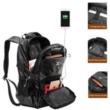 ZOGER multi-function men's backpack 15.6-inch laptop bag 20 liters moisture-proof backpack business large capacity travel bag ba