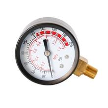 Portable Dual Scale Dial Gauge 1/4 1/8 NPT  Vacuum Pressure Meter Gauge Manometer Dial Display Digital Pressure Gauge Sep19 elecall micro differential pressure gauge te2000 0 1kpa high precision 1 8 npt air pressure meter barometer best sale