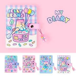 Cute A6 Bullet Journal Binder Notebook Spiral Diary Agenda Planner Organizer Notepad Kawaii 6 Rings Note Book Daily Handbook(China)