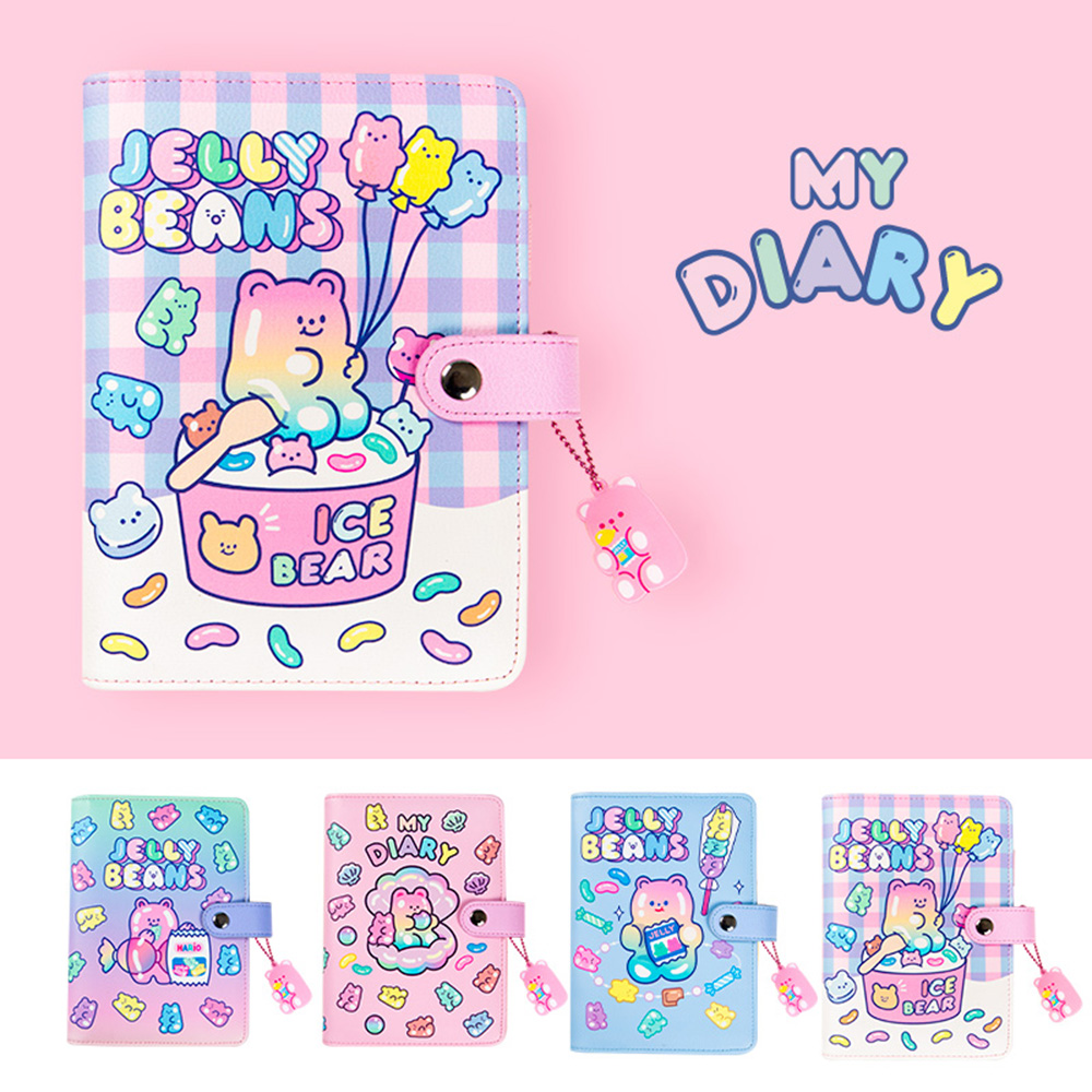 Cute Bullet <font><b>Notebook</b></font> <font><b>Spiral</b></font> A6 Diary Journal <font><b>Binder</b></font> Agenda Planner Organizer Kawaii Note Book Korean Bear School Daily Handbook image
