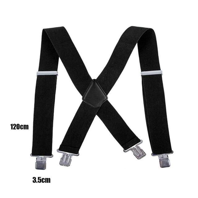 Adjustable Elasticated Adult Suspender Straps Y Shape Clip-on Men's Suspenders Strap Clip-on for Pants Trousers Brace Belt 10