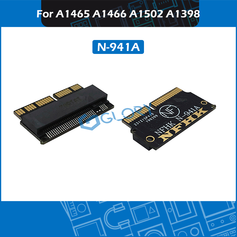 10pcs/Lot N-941A NVMe M.2 NGFF PCIe SSD Adapter Card For Macbook Air Pro A1465 A1466 A1502 A1398 2013 2014 2015(China)