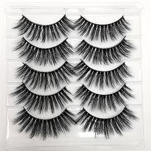 5pairs Makeup Eyelashes 3D Mink eyelashes 5D Mink lashes Maquillage Eyelash packaging box Eyelash extension 25mm Lashes