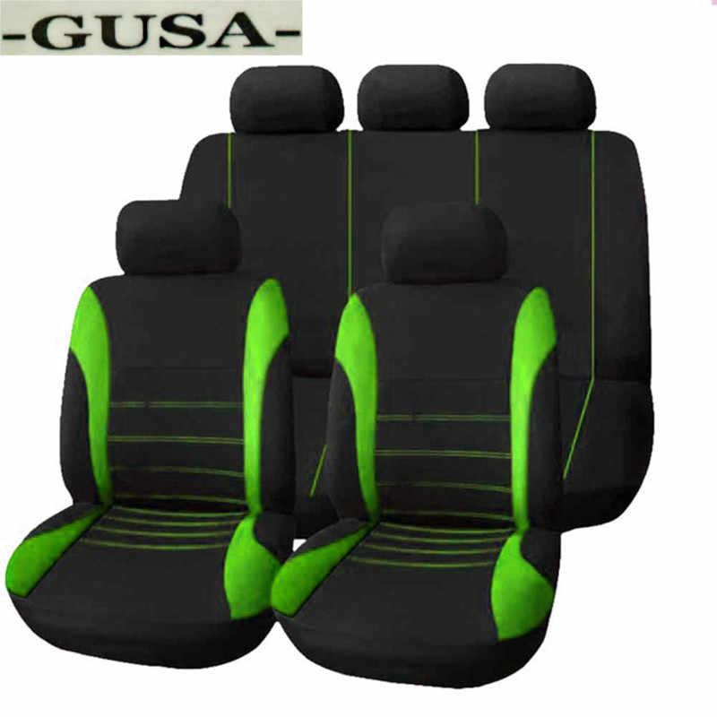 Conjunto de fundas para asiento de coche delantero + trasero para FIAT Punto Tipo Palio sedci Aegea freemut Fullback Panda, idea Strada Uno Linea viagcio Ottimo