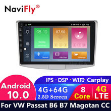 4G LTE Android 10 4G + 64G Car radio For VW Volkswagen Passat B7 B6 / Magotan 2010-2015 Car dvd GPS Navigation Multimedia Player