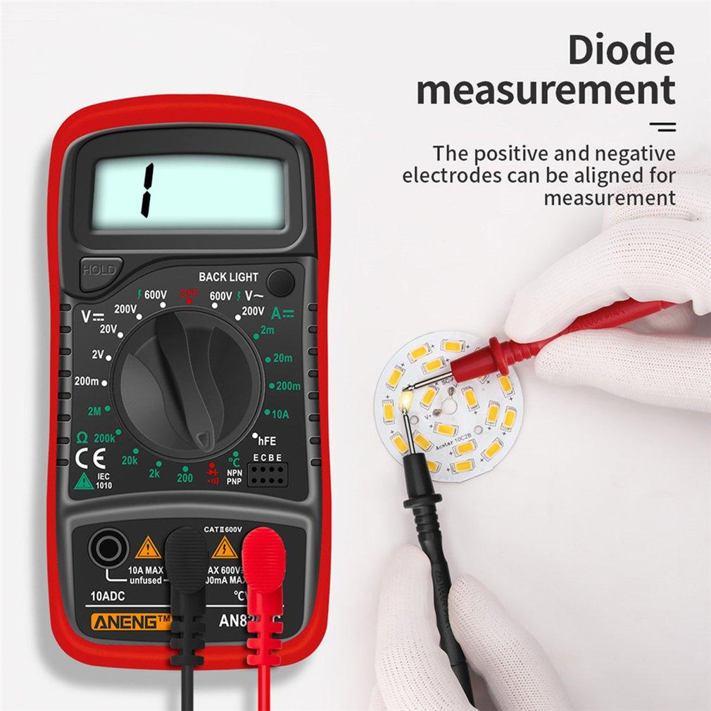 Aneng an8205c multímetro digital 6000 contagens automático variando medidor de tensão ac/dc flash lcd luz traseira grande tela 113a/d
