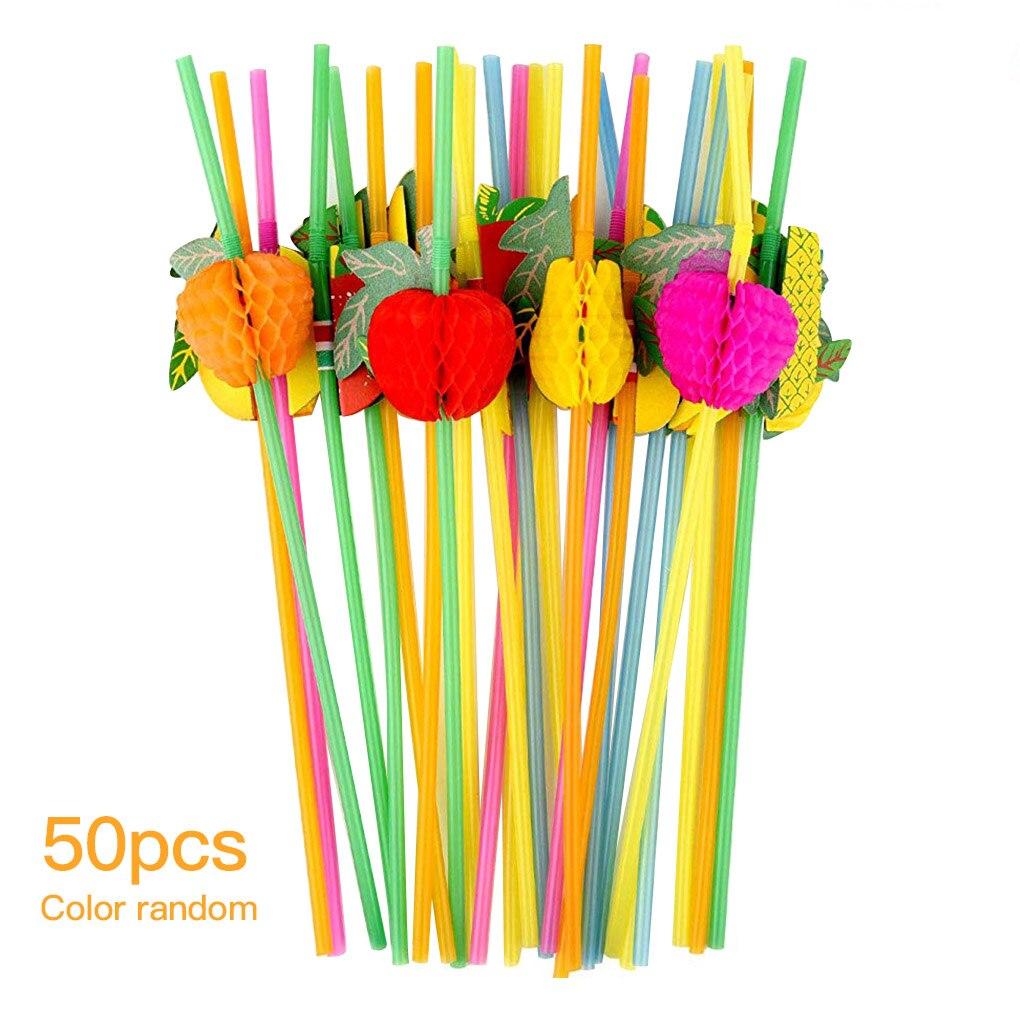 Mini parapluie fruits Pegwood, 50 pièces, ruche, paille à boire, décoration de fête, accessoires pour Cocktail, Pegwood