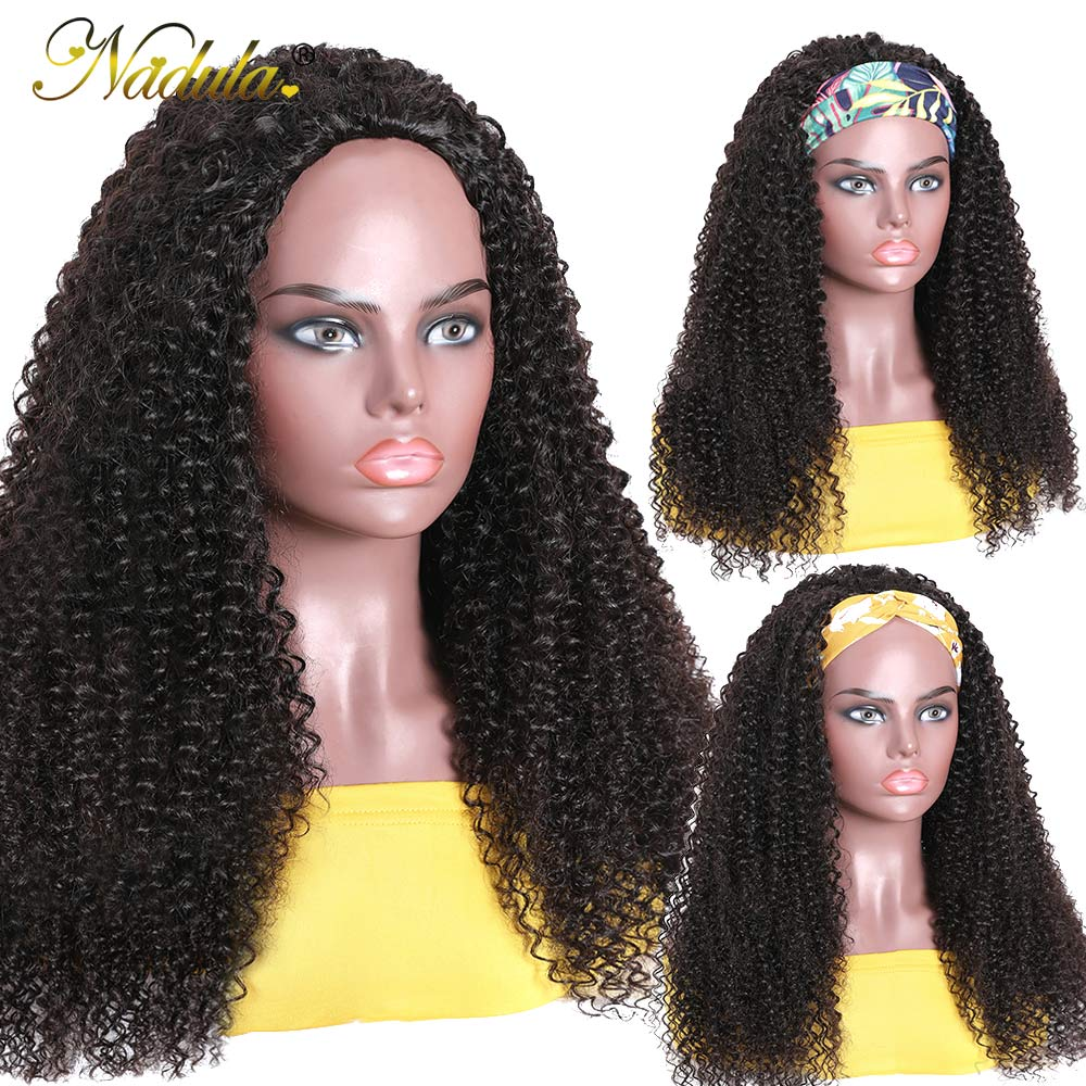 "Kinky Curly Half Wig 12""-28inch Long  Wig  Nadula Kinky Curly Headband Wig Affordable Natural Hair Wig 3"