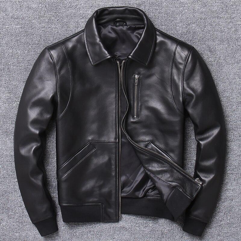 2020 Casual Man Genuine Coat Mens Sheepskin Jacket Busines Leather Jackets Fashion Style Plus Size Sales