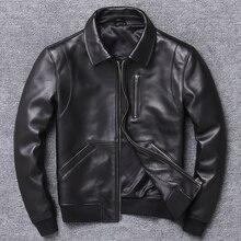 2020 Casual Man Genuine Coat Mens Sheepskin Jacket Busines Leather Jack