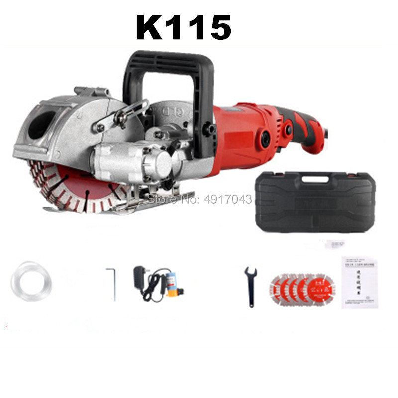 220V Hydropower Installation Electric Wall Chaser Concrete Wall Cutting Slotting Grooving Machine