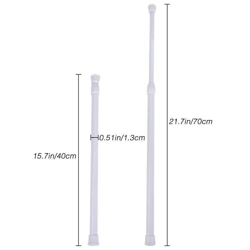 Multifunctionalห้องน้ำม่านอาบน้ำโลหะVoileความตึงเครียดTelescopic Pole Rodห้องนอนห้องครัว