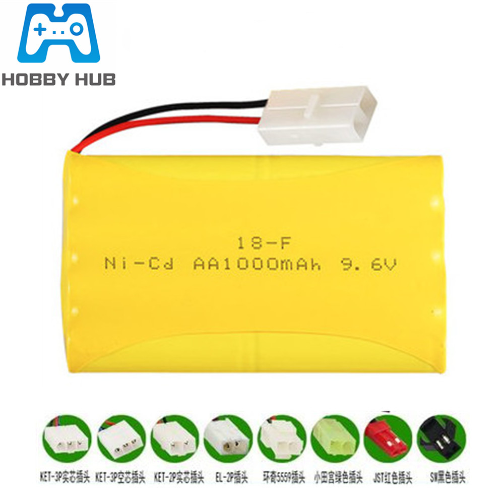 9.6V 1000mAh Ni-Cd Battery 9.6 V AA Battery For MJX 1559 8888 RC Car Boats Spare Parts Free Shipping