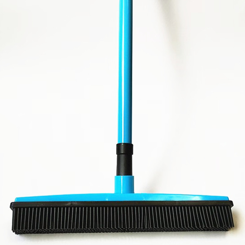 Rubber Broom Hair Lint Removal Device Telescopic Bristles Magic Clean Sweeper Squeegee Bristle Long Push Broom Selling Well All Over The World