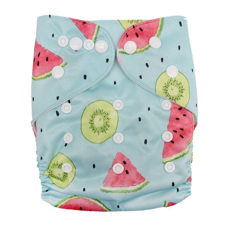 Детские моющиеся многоразовые подгузники из настоящей ткани с карманом, подгузники, чехлы для подгузников, костюмы для новорожденных и горшков, один размер, подгузники с героями мультфильмов - Цвет: Watermelon