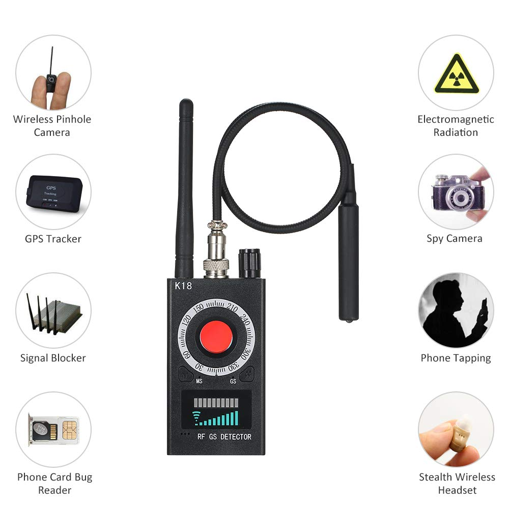 Hidden Camera Detector Anti-spy Detector GSM Audio Bug Finder GPS Signal Lens RF Tracker Detector