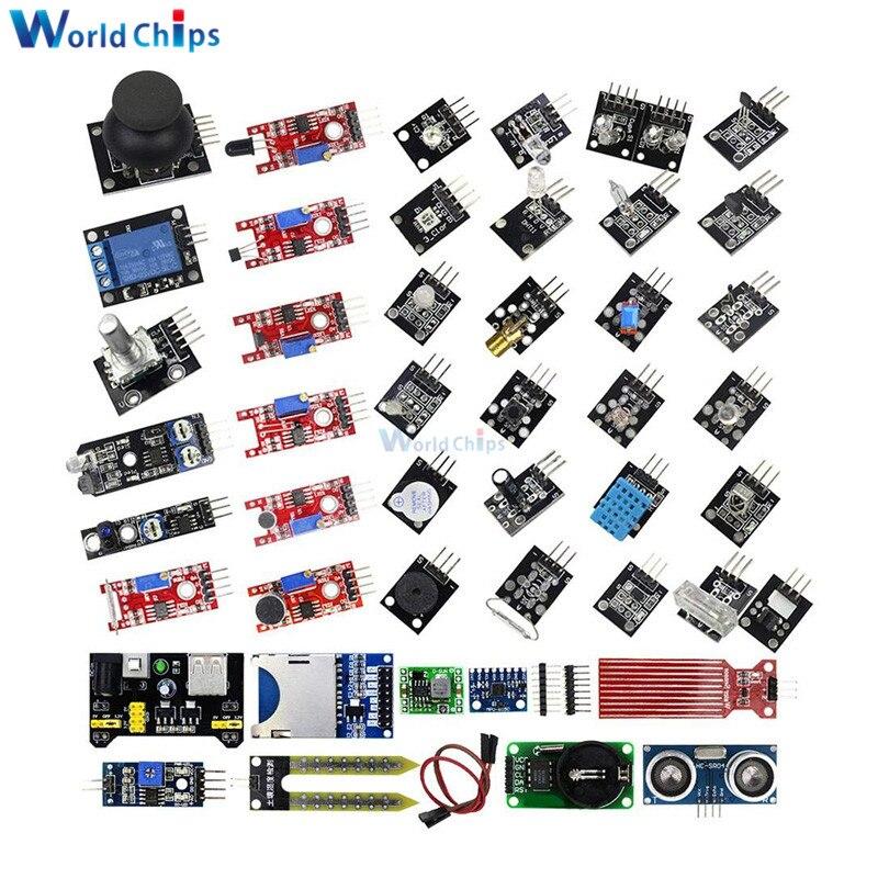45 In 1 Sensors Modules 37 In 1 Sensor Kit Starter Kit For Arduino Raspberry Pi UNO R3 MEGA2560 37 Sensors Assortment DIY Kit