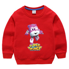 2020 Super Wings Costume Baby Girls Clothes Novelty Boys Jumper Kids Clothing Sweatshirts Fashion Toddler Long-Sleeved T-Shirts