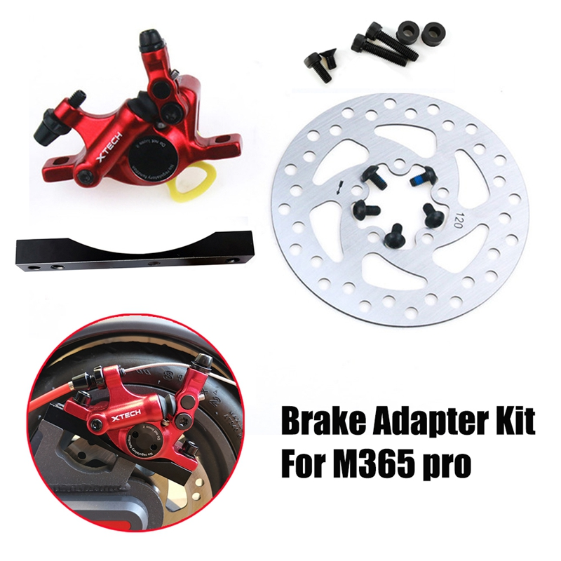 Electric Scooter Hydraulic Brake Adapter Kit Aluminum Disk Brakes Disc Piston Parts for Xiaomi M365 Pro Black&Red