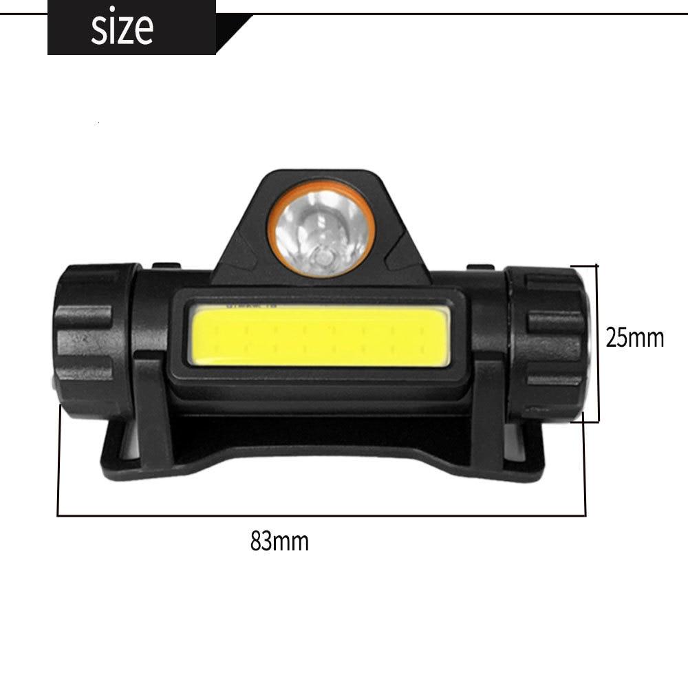 Купить с кэшбэком COB Headlamp LED Flashlight 12000LM Powerful Portable light USB Rechargeable Camping lamp outdoor lighting adjustable headlights