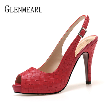 Women Sandals High Heels Summer Brand Woman Pumps Thin Heels Party Shoes Pointed Toe Slip On Office Ladie Party Shoe Plus Size