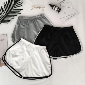 Summer Women Casual Patchwork Body Fitness Workout Stretch Skinny Slim Shorts