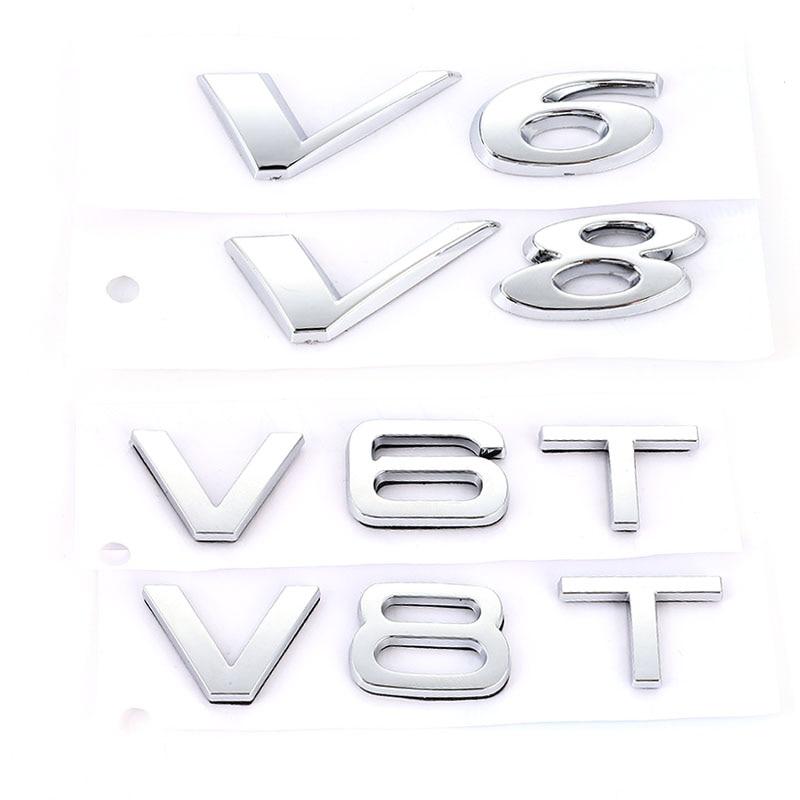 3D Автомобильная наклейка 3,0 5,0 V6 V8 V6T V8T наклейка s Задняя эмблема значок наклейки для Jaguar SUV I-PACE XJ XF F-Type XK Audi 3,0 V6T A3 A4