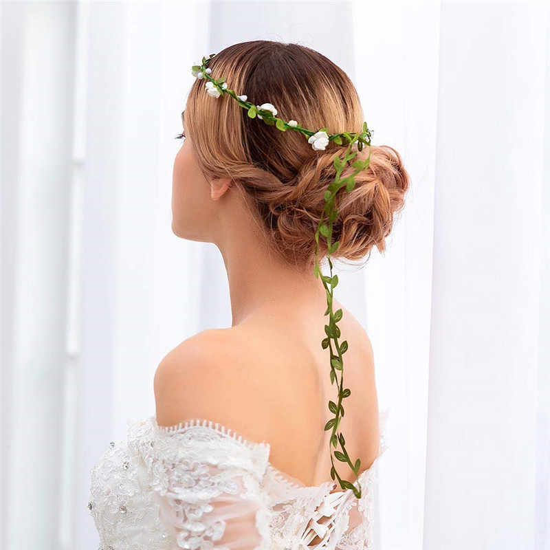 جميل مختلف اللون إكليل إكليل عقال إكليل عقال الزفاف عطلة حفلة عيد التصوير الدعائم 1 قطعة