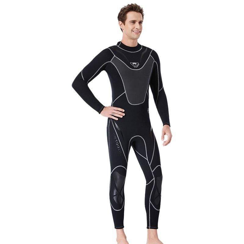 Plongée & voile noir complet hommes 3Mm néoprène combinaison surf natation combinaison de plongée Triathlon combinaison humide pour eau froide