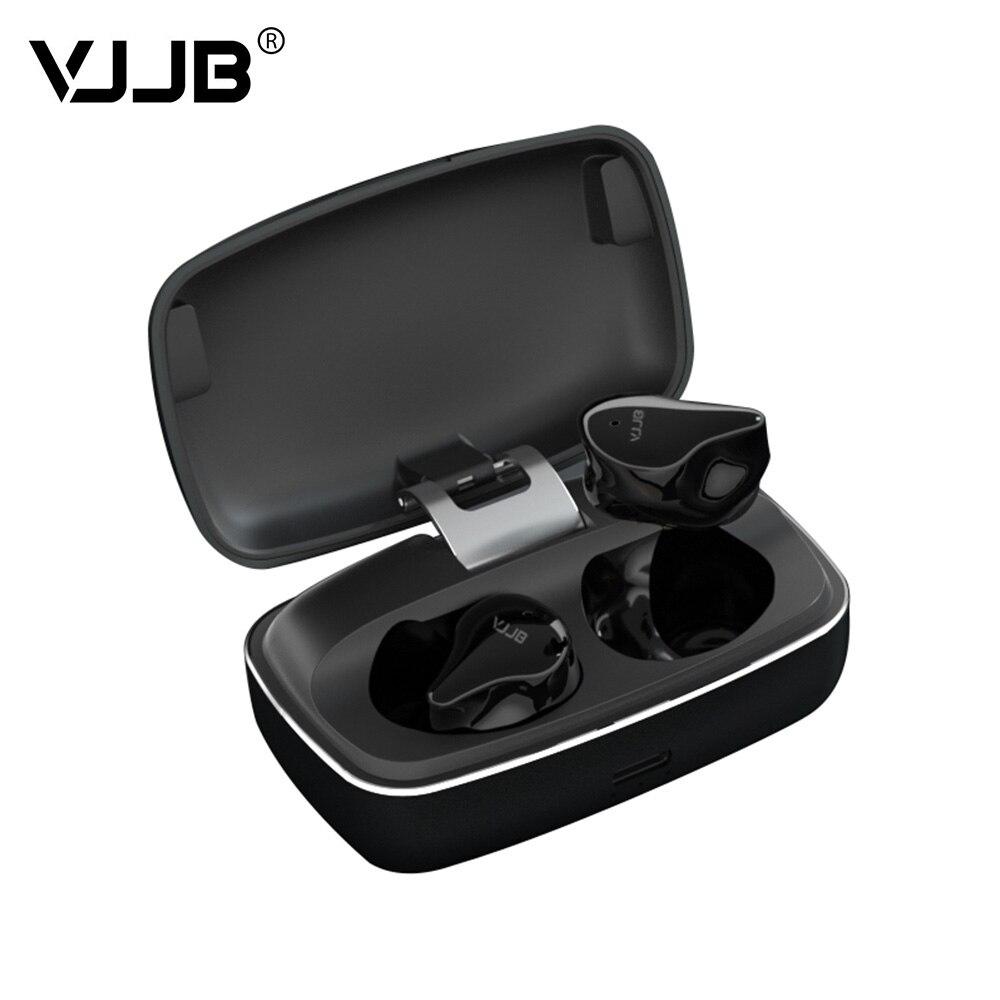 VJJB V8 5.0 TWS True Wireless écouteurs Bluetooth casque 6MM pilote dynamique Portable HIFI stéréo suppression de bruit casque