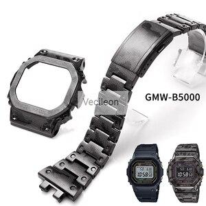 Image 1 - GMW B5000 Zwart Camo Sliver Titanium Legering Horlogebanden En Bezel Metalen Band Stalen Armband Cover Met Gereedschap