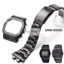 GMW B5000 siyah Camo gümüş titanyum alaşımlı saat kayışı ve çerçeve Metal kayış çelik bilezik kapağı araçları ile