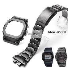 GMW B5000 블랙 카모 슬리버 티타늄 합금 시계 밴드 및 베젤 금속 스트랩 스틸 팔찌 커버