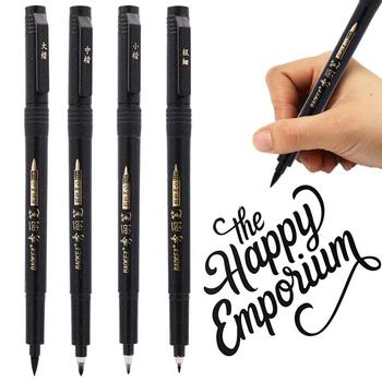 4pcs Hand lettering Calligraphy pen set Drawing Signature designs Learning Extra Fine Brush Art supplies School teacher F806