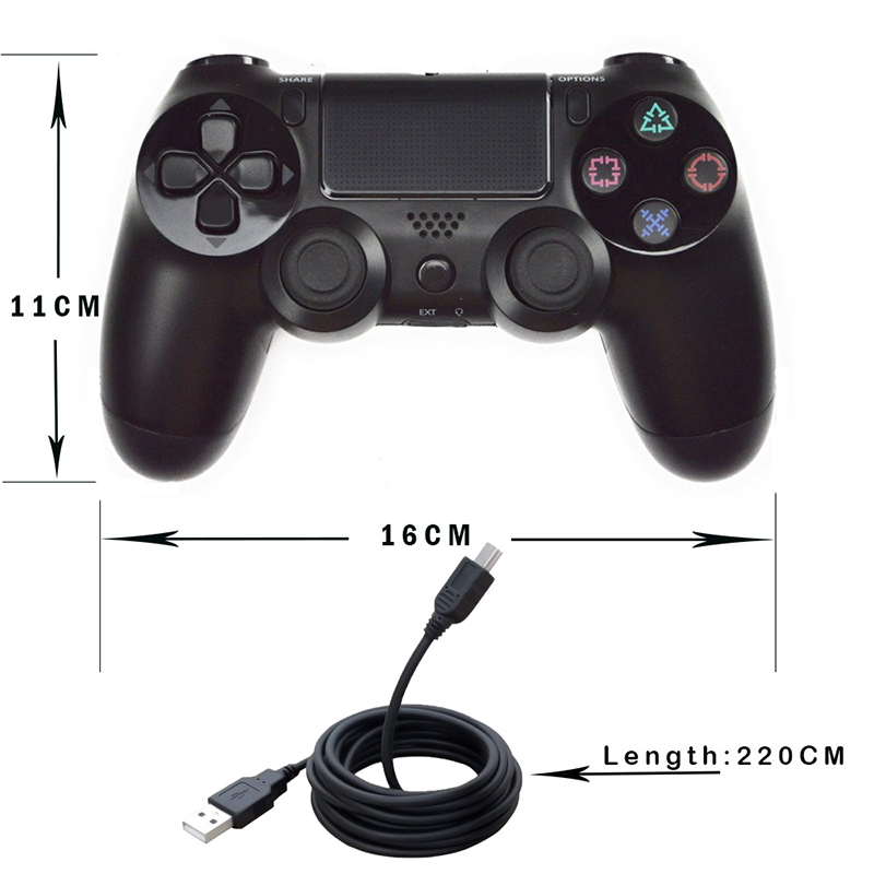 4 2 USB Wired Controller Joypad Gamepad For Sony PS4/PS3 Controller PlayStation 4 Dualshock Console Gaming Joystick with 2.2M Cable (2)