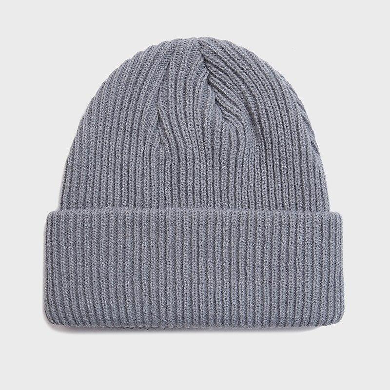 Solid Unisex Beanies Winter Skullcap Autumn Melon Cap Men Female Hat Warm  Knitted Cap  Casual Skullies Bonnet Slouch Skullcap