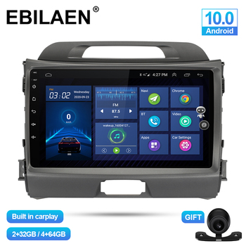 EBILAEN Car Multimedia Player For Kia Sportage 3 4 2010-2016 Android 10.0 Autoradio GPS Navigation DSP IPS Headunit 4G Stereo image