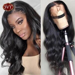 Pelucas de cabello humano SVT con encaje Frontal 13x 4/13x6 Peluca de pelo brasileño 150% onda del cuerpo 360 pelucas de encaje Frontal para mujeres negras