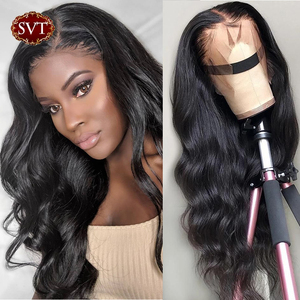 Perucas dianteiras do cabelo humano do laço de svt molhadas e onduladas 13x 4/13x6 peruca brasileira do cabelo 150% da onda do corpo 360 perucas frontais do laço para a mulher preta
