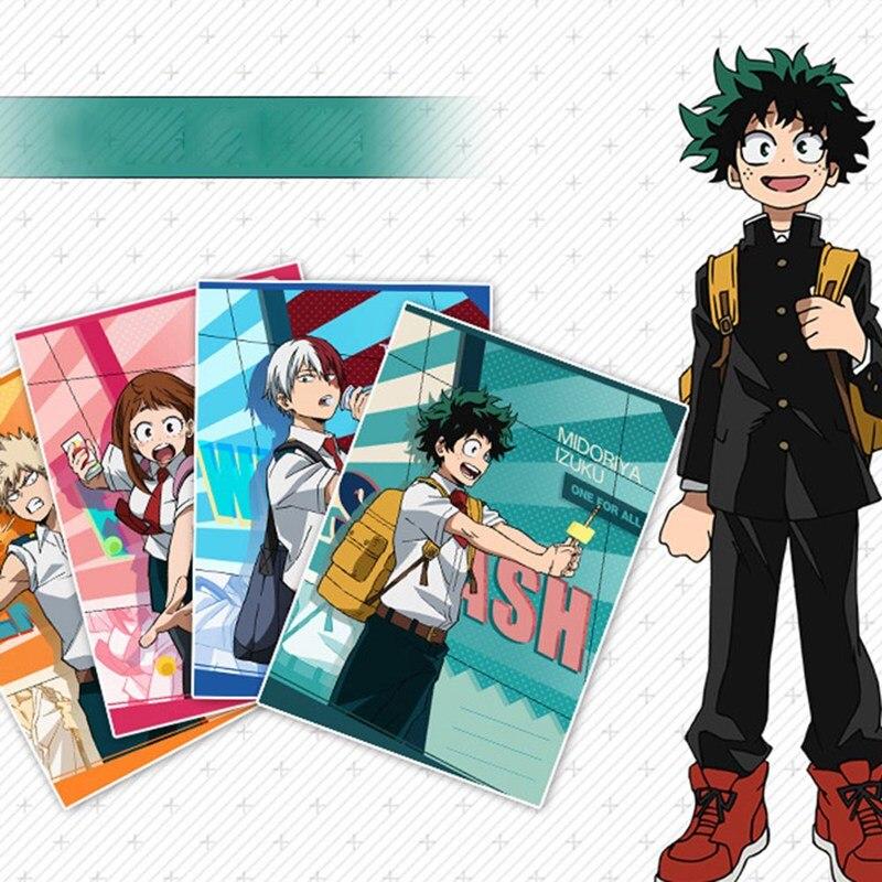 Anime My Hero Academia Cartoon Character Midoriya Izuku Notebook Cosplay Accessory Book Prop School Student Gift