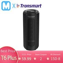 Altavoz Bluetooth Tronsmart T6 Plus, altavoces portátiles de 40W, barra de sonido de graves profundos con resistencia al agua IPX6, TWS, para Siri,SoundPulse