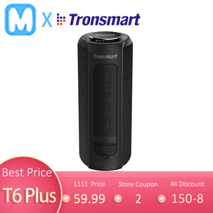 Tronsmart T6 Plus Bluetooth Speaker 40W Portable Speakers Colums Deep Bass Soundbar with IPX6 Waterproof,TWS,for Siri,SoundPulse(China)
